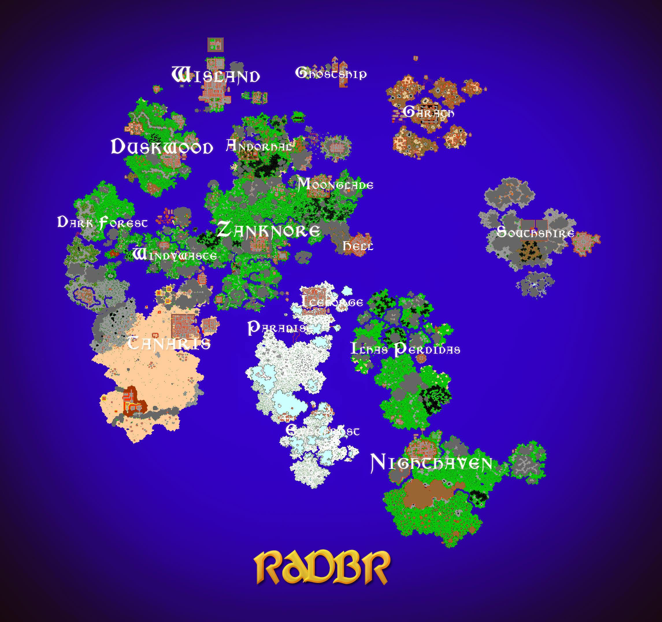 Radbr Servidor De Tibia Map